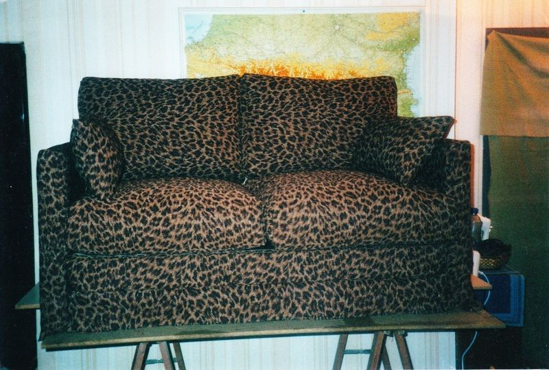 fauteuils imprim leopard